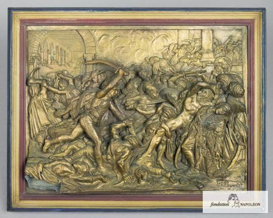 LAVASTRE F., (d'après), GIRODET Anne-Louis, de Roucy-Trioson (1767-1824), Révolte du Caire, 21 octobre 1798   Fondation Napoléon