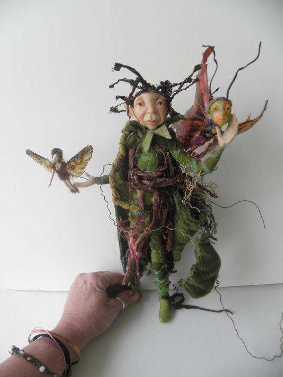 THE KINGDOM KEEPER ooak fairy art doll keeper of by dinkydarlings, $229.00