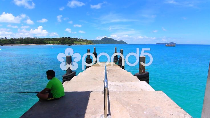 Old Concrete Pier Fisherman Tropical Water Island Boats Thailand - Stock Footage | by RyanJonesFilms #thailand #travel #sightseeing #water #ocean #sea #island #tropical #fishing #boat #sky #hot #beautiful #bluewater #pier #fisherman #fishingboat