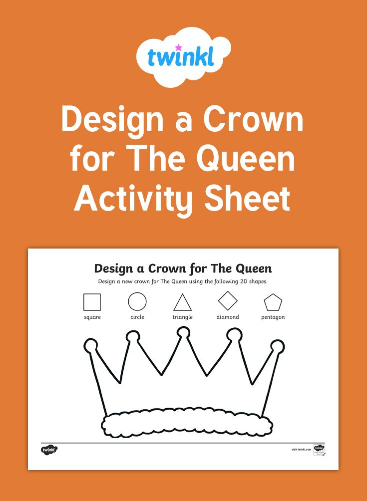 A great activity for students to practise their shape drawing skills while designing a new crown for The Queens's birthday.