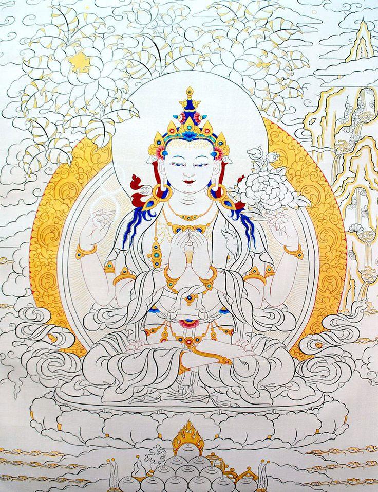 Four-Armed Avalokiteshvara Thangka @ NORBULINGKA  www.norbulingkashop.com