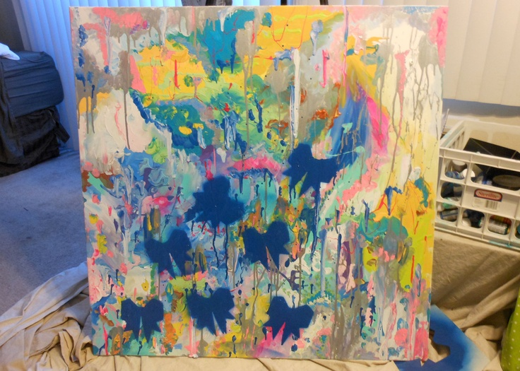 Abstract Expressionist Bows Large | bivenscake