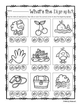 Ch Sh Th Worksheets Kindergarten
