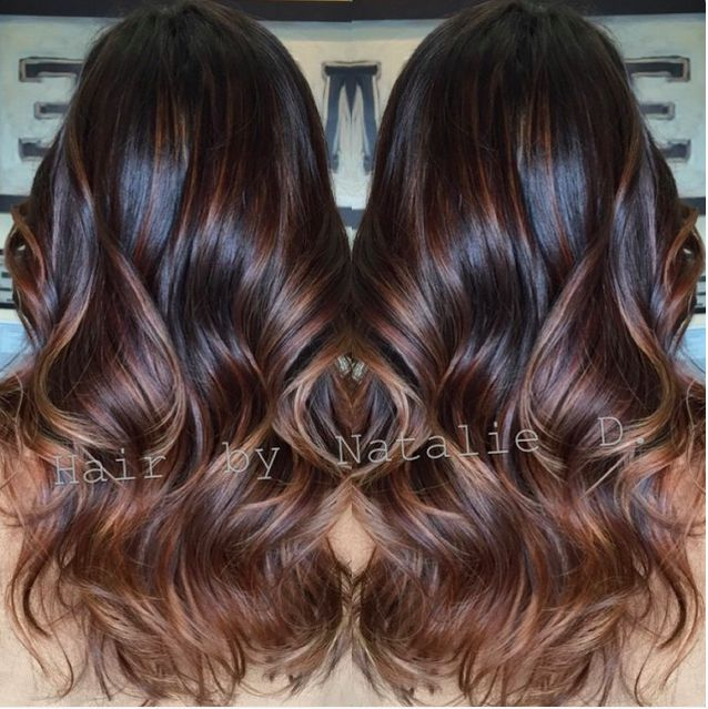 Ombré  on dark brown hair