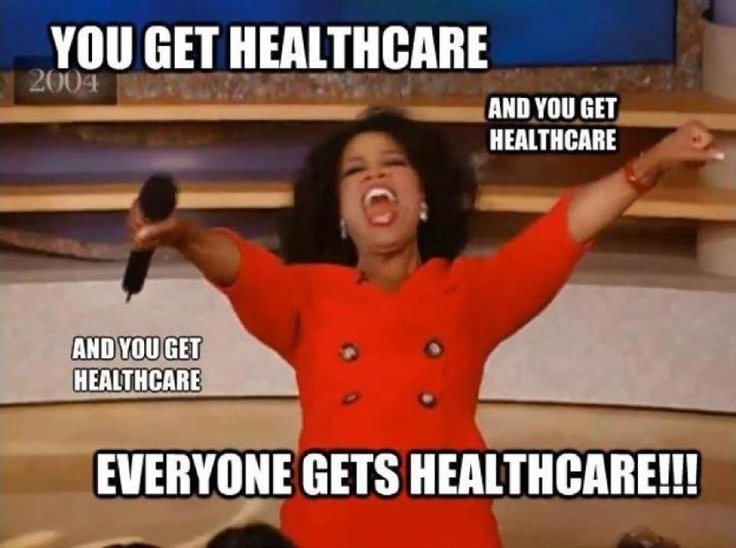 oh oprah...: Obama Cares, Free Healthcare, Woohoo, Favorite Things, Health Care, Obamacare Passed, I Don'T Care
