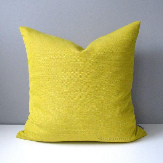 Acid Yellow Outdoor Pillow Cover Decorative Pillow Case