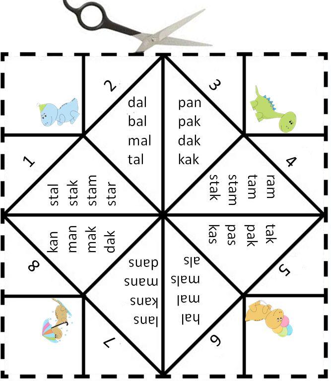 Vouwdobbelsteen met de letter a Digibord Onderbouw