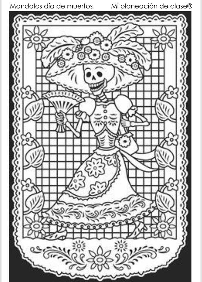 Maravillosas Mandalas Para El Día De Muertos Material