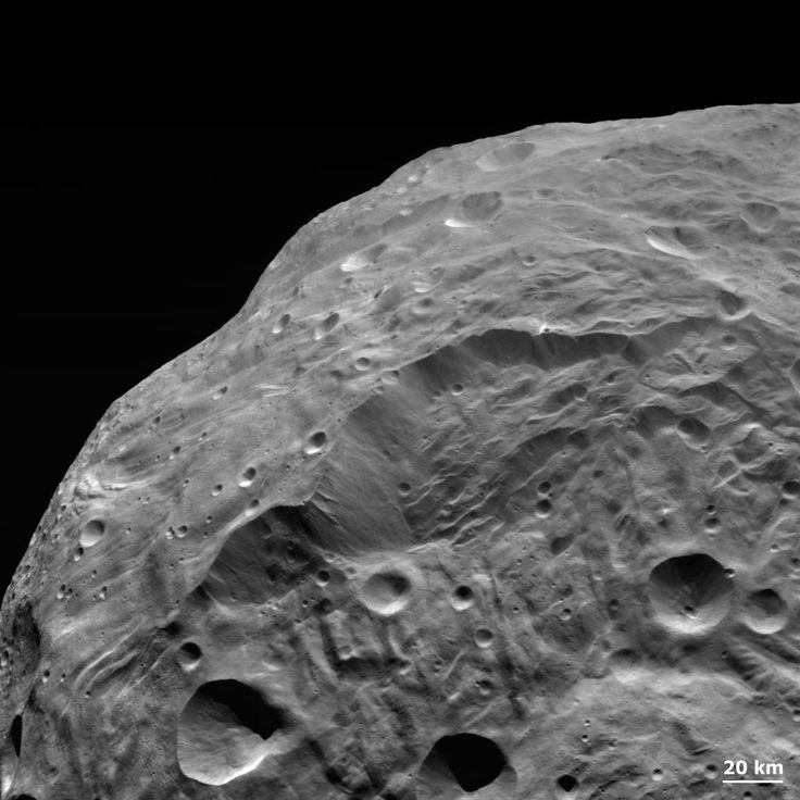 Landslide on Asteroid Vesta ~See Explanation.  Clicking on the picture will download   the highest resolution version available.