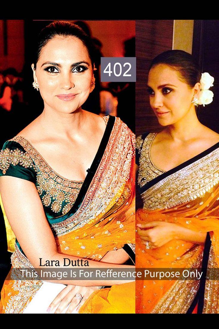 Lara Dutta Yellow Net Latest Bollywood Saree