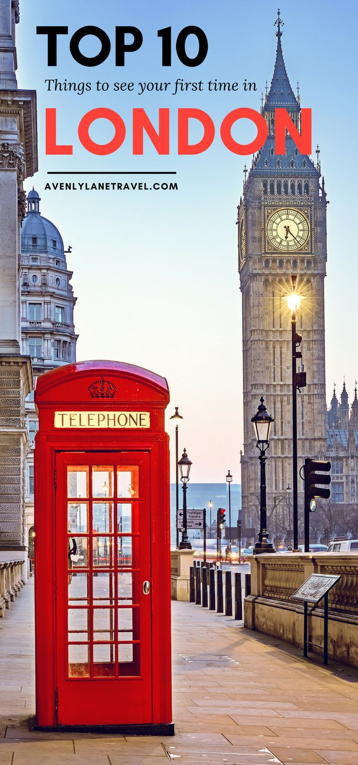 See the top 10 attractions you can't miss when visiting London, England for the first time!  Double Decker Buses | Harry Potter Studio Tour | London Eye | Big Ben | Avenly Lane Travel