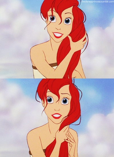ariel just give me your eyes, and hair, and body, and everything. dont forget the tail, i want that to.