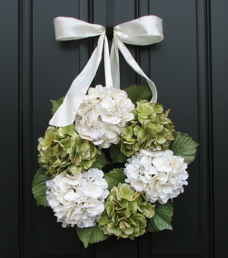 Best hydrangea wreath images on pinterest floral
