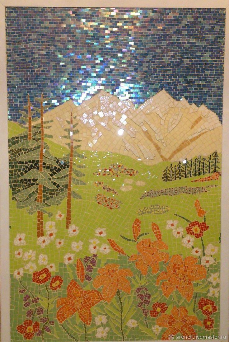 """Панно """"Сказочная страна"""", получилось очень КРАСИВОЕ, сделано из керамики в мозаичной технике. С удовольствием сделаю аналог на заказ, точное повторение невозможно. В реальности выглядит намного красивее, чем на фото. Мозаика - это великолепное украшение Вашего дома и прекрасный подарок на любой случай! Материалы: керамика. Размер:210(ш), 152(в)см."""