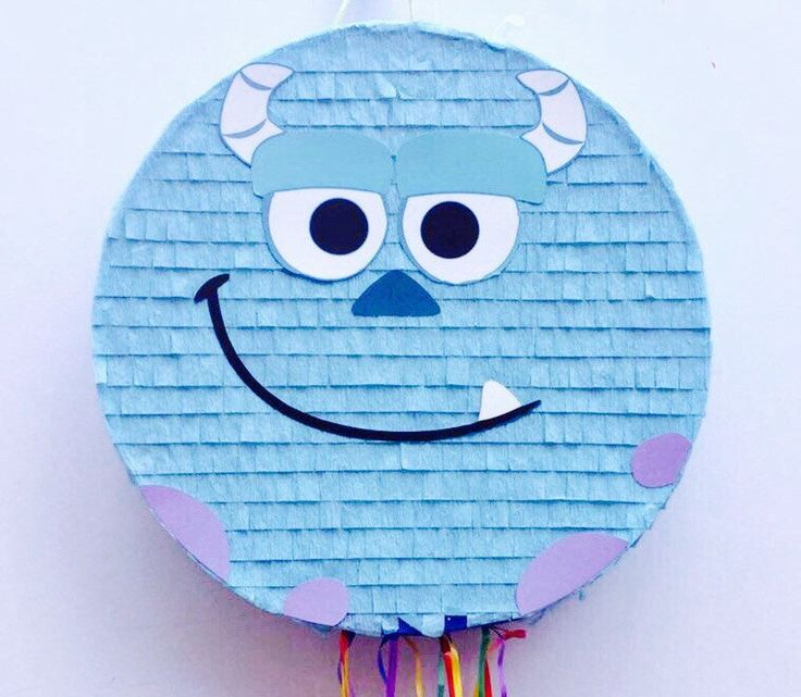 Birthday Celebration Sulley Pinata (Monsters Inc.). Celebración cumpleaños piñata de Sully (Monstruos SA) de ArteAnadal en Etsy https://www.etsy.com/es/listing/524523846/birthday-celebration-sulley-pinata