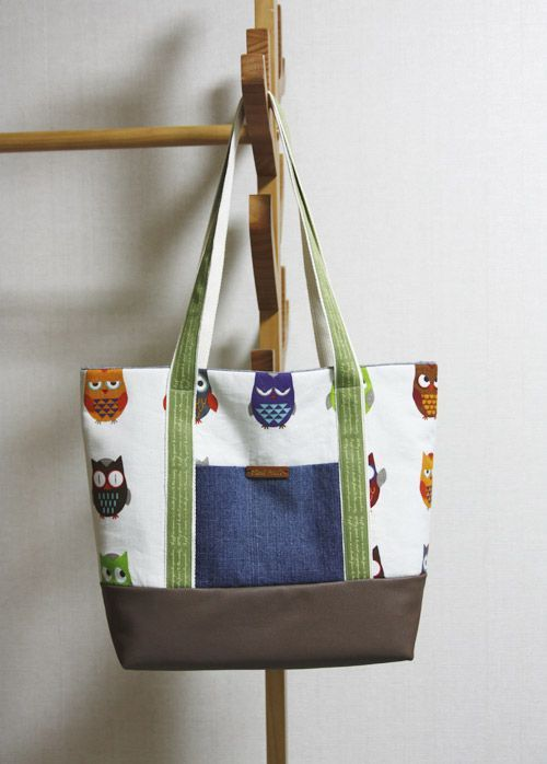 Easy Canvas Tote Bag with Pocket. Step by step DIY Tutorial. Холщовая  сумка  с карманом. МК.