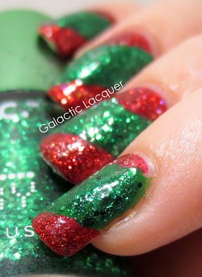 Galactic Lacquer: 12 Days of Christmas - Only Red & Green