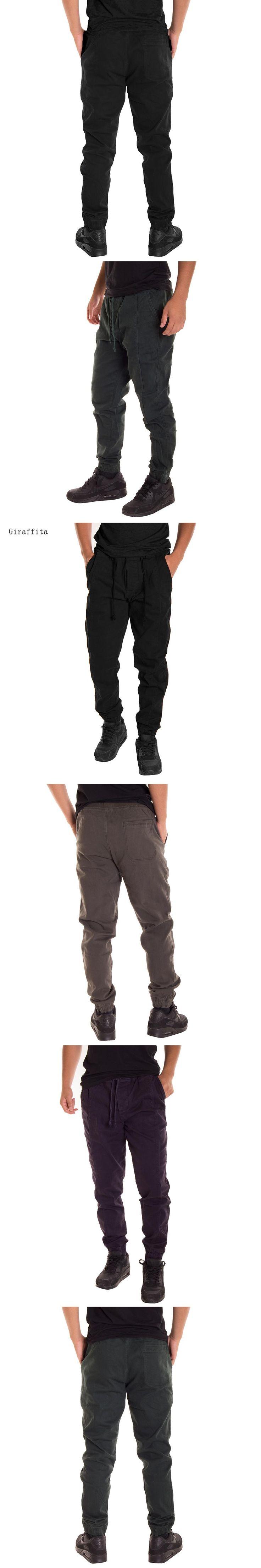 Giraffita Men Autumn Pants Casual Elastic Cotton Mens Workout Pants Sweatpants Trousers Elastic Drawstring Pants