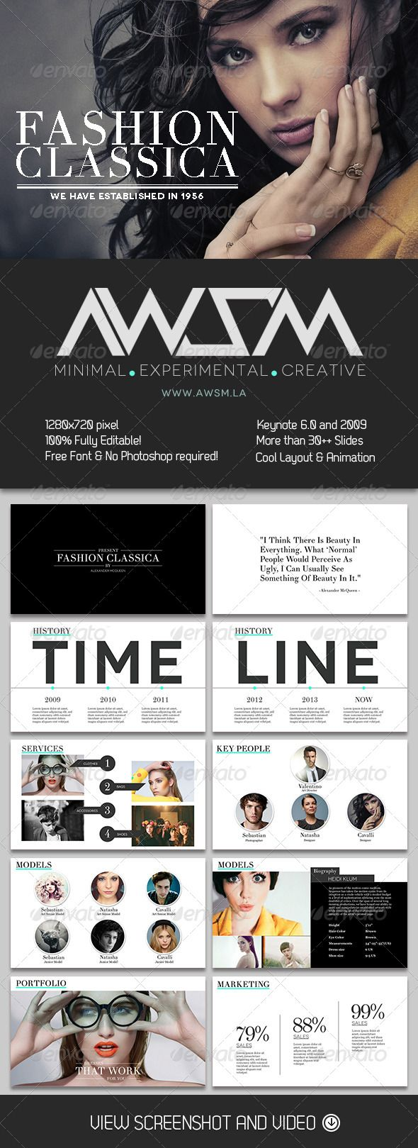 Fashion Classica Keynote Template
