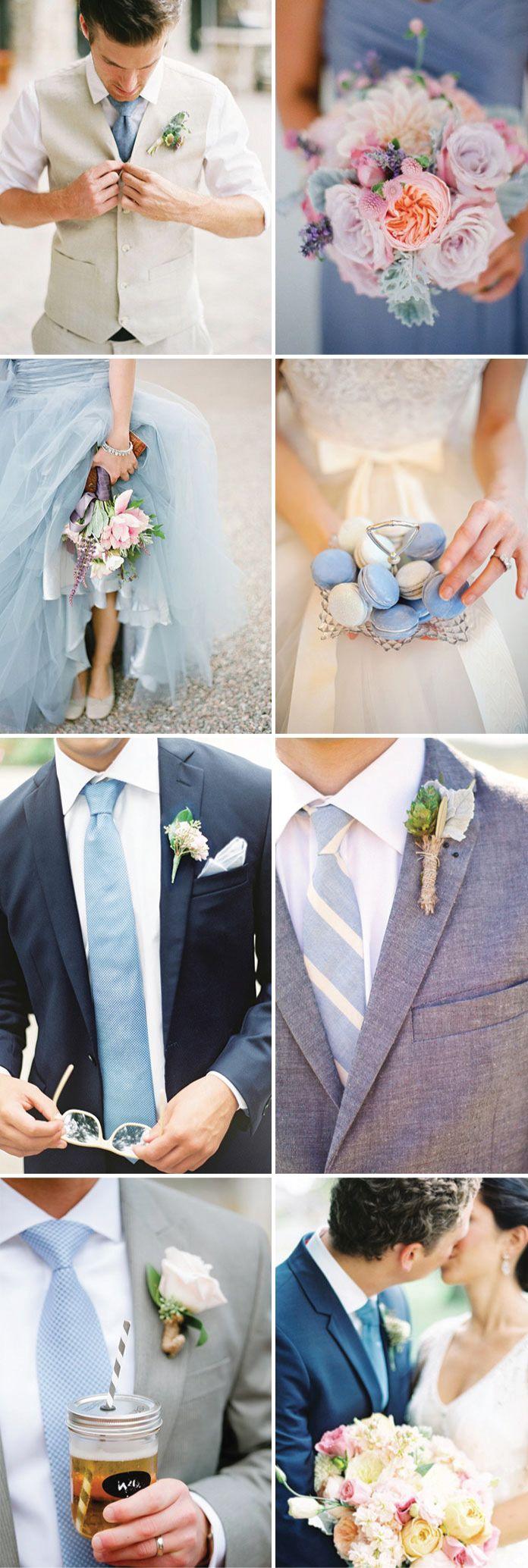 Wedding Looks in Cornflower Blue