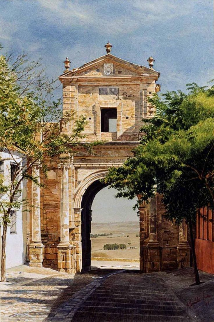 Puerta de Carmona. Obra de José González Bueno