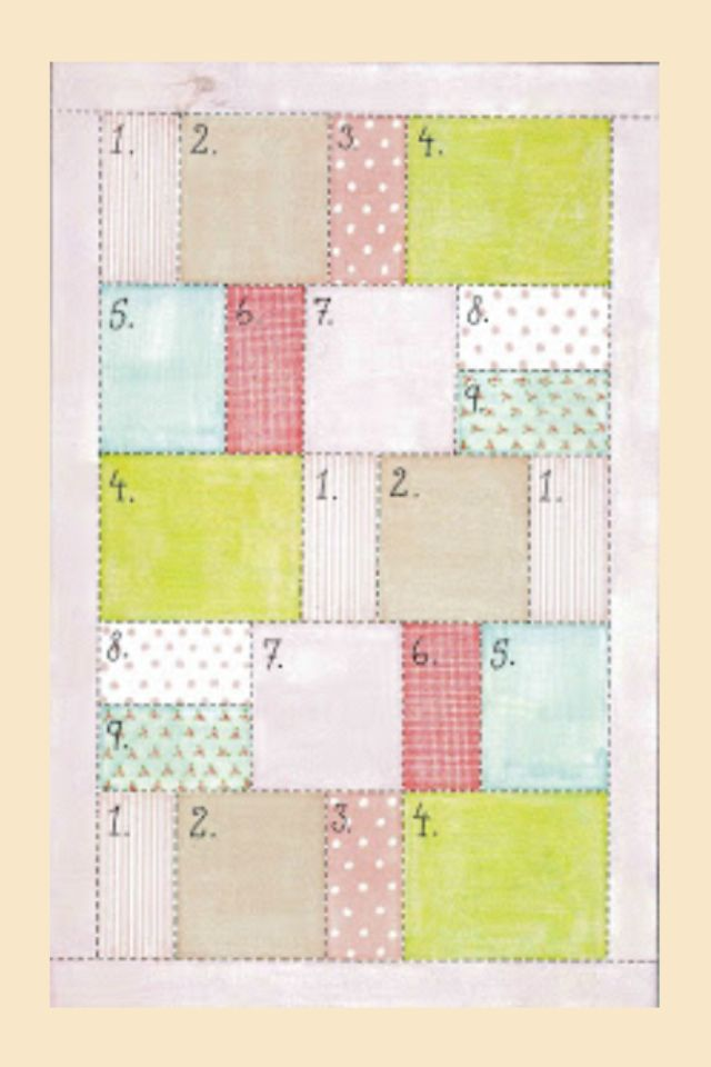 Easy quilt pattern - variated sizes