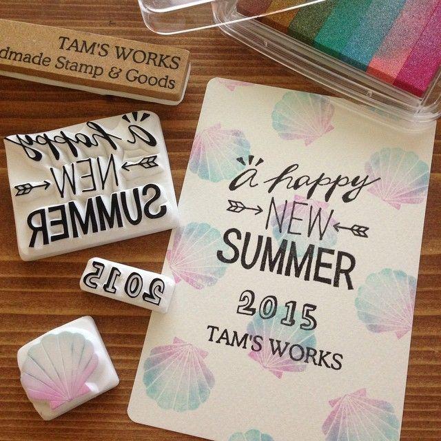 素敵なスタンプでハッピーに♩『TAM'S WORKS』の消しゴムはんこが可愛すぎる♡にて紹介している画像