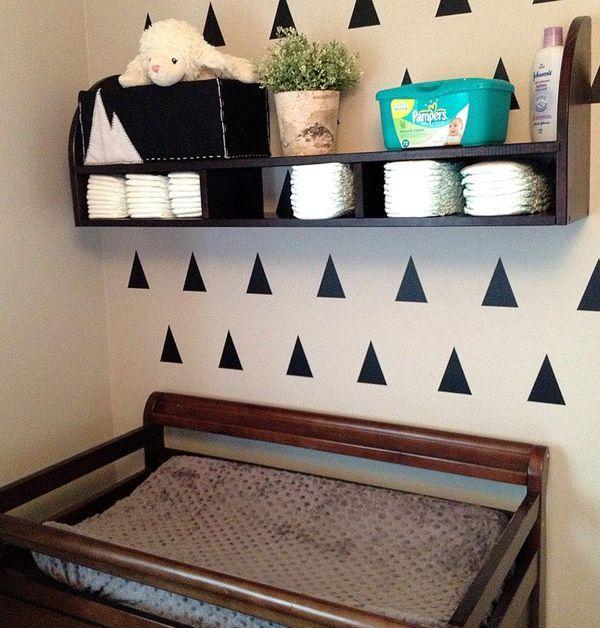 Nursery Wall Storage: Best 20+ Changing Table Storage Ideas On Pinterest