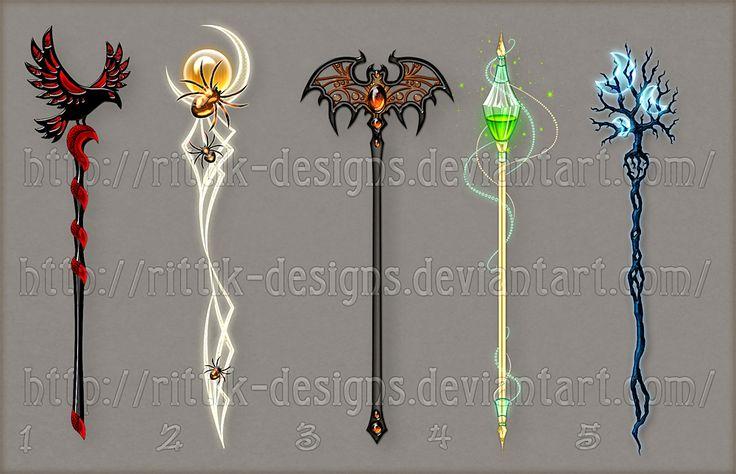 Staff designs 18 halloween set by rittik designs on deviantart fantasy pinterest anime - Coole wanddesigns ...