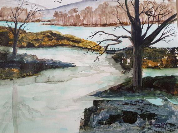 Winter River by ChezPimmi on Etsy
