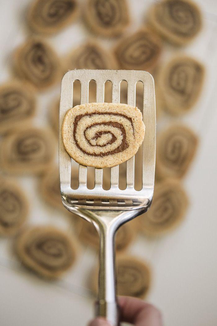 Browned Butter Nutella Slice Cookies
