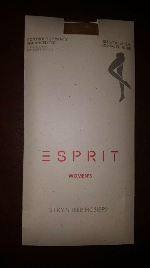 612a93fd20686 Esprit Silky Sheer Hosiery Pantyhose Size E/F Nude Control Top Enhanced Toe  NEW#Hosiery#Pantyhose#Sheer