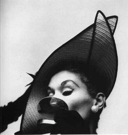 Lisa Fonssagrives: Photographers, Hats, Vogue Fashion, 1949, Lisa Fonssagrivespenn, Vintage, Erwin Blumenfeld, Irving Penne, Fashion Photography