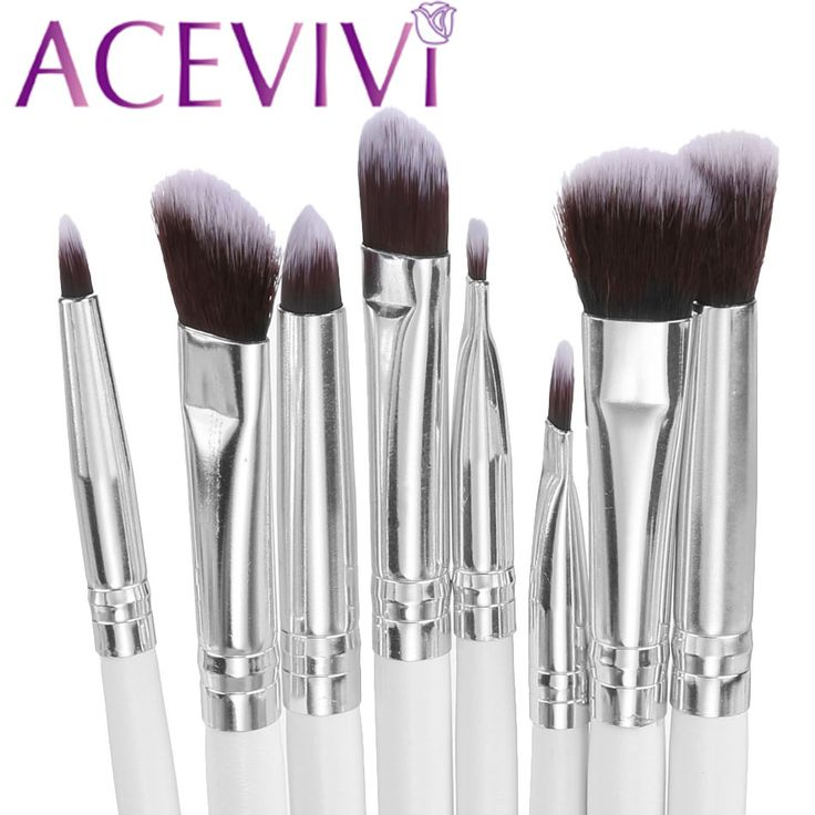 8 pcs sintético cabelo escova da sombra de maquiagem sombra eye makeup brushes set professional make up brushes