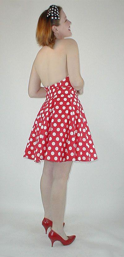 80s polka dot halter dress   Dresses, Vintage outfits ...