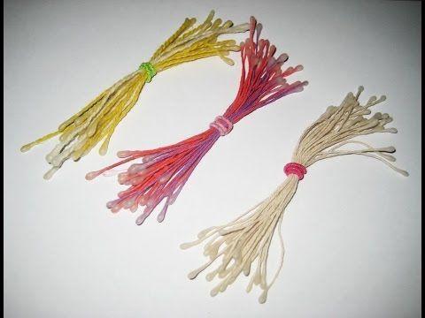 DIY Тычинки для цветов из ниток. Мастер-класс  Stamen for flowers  Tutorial - YouTube