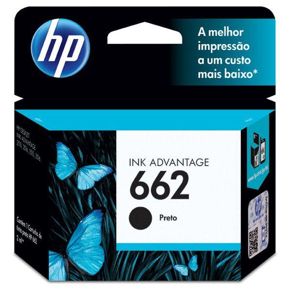 Cartucho de Tinta HP 662 Preto - CZ103AB 9094822