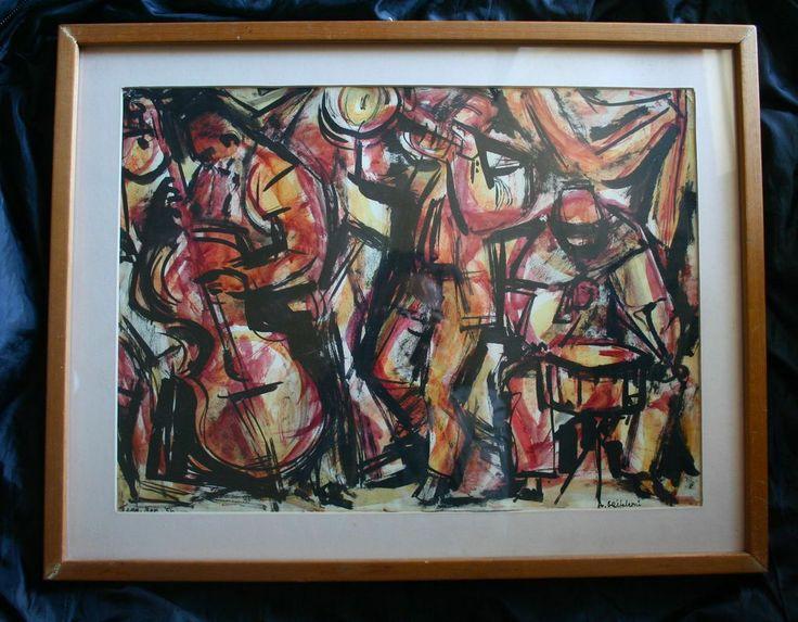 Original Painting Jazz Men Listed Artist Illustrator Anne Grifalconi