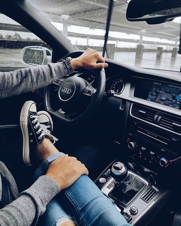 He's always touching you in some way, even if driving. Just small touches, affirmations that he loves you and enjoys having you at his side and being at yours.