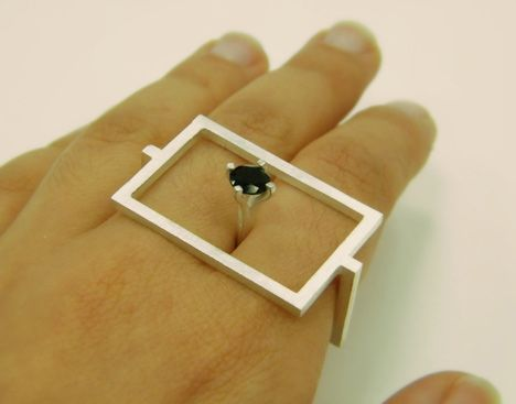 New City, a series of rings and brooches by Gilit Barak, Israel.