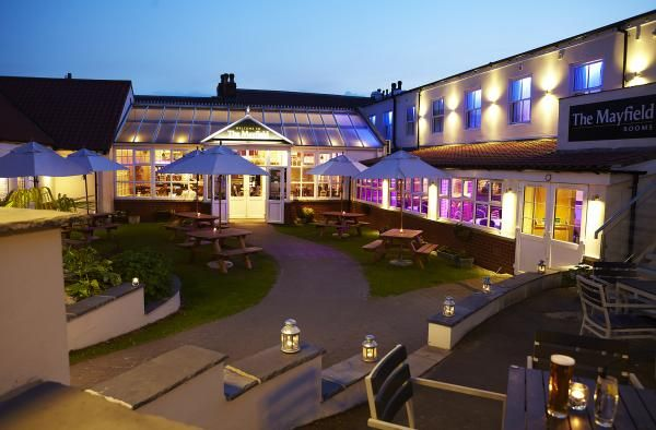 The Mayfield is a family friendly pub near Scarborough with a refreshed modern beer garden. www.iknow-yorkshire.co.uk