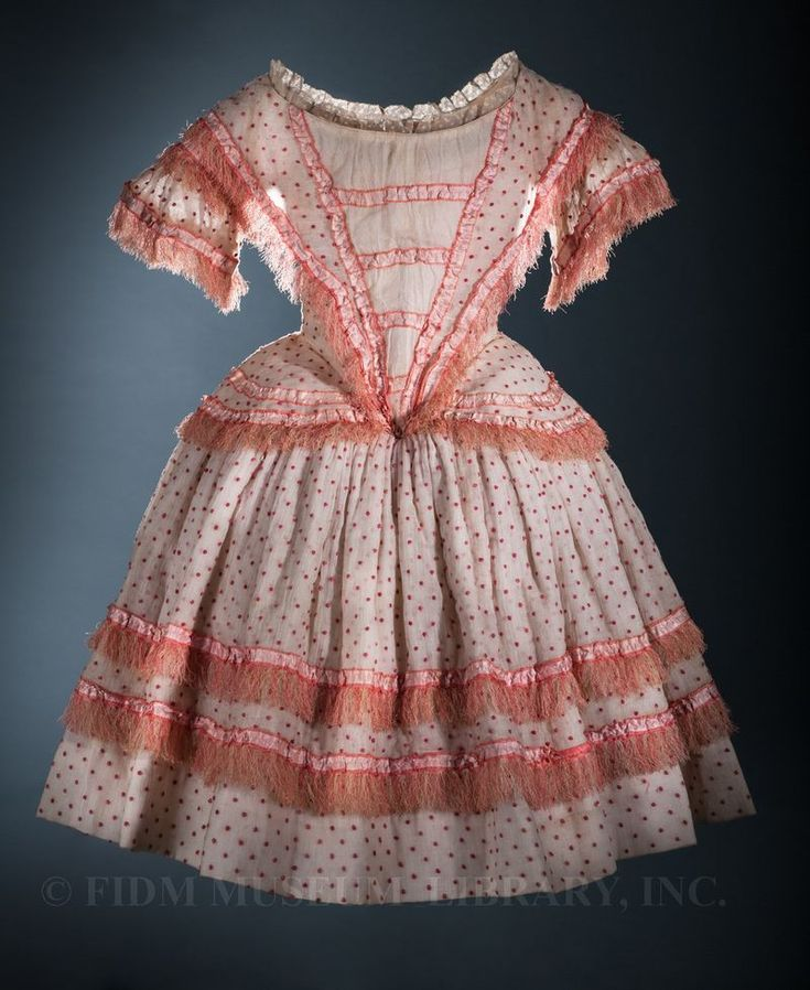 Girl's dress, 1850. From the Helen Larson Historic Fashion Collection at the FIDM Museum.