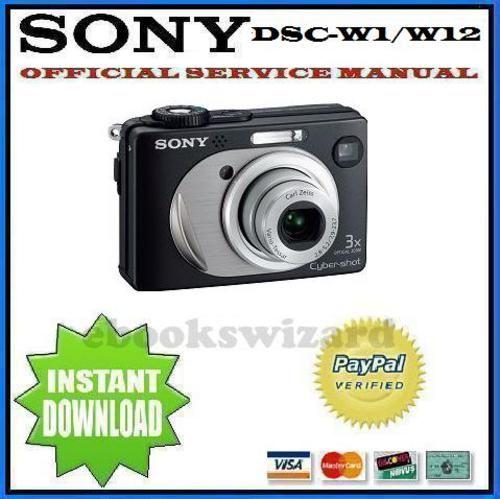 sony cyber shot dsc w1 w12 service repair manual other manuals rh pinterest com sony cybershot camera repair manual sony cybershot service manual