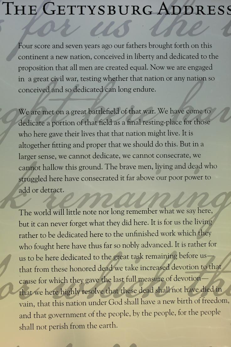 Gettysburg Address Rhetorical Analysis