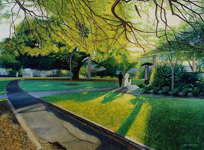 'The Chosen Path' (New Farm Park, Brisbane) by Lars Vester  Oil on linen, 102 x 76cm