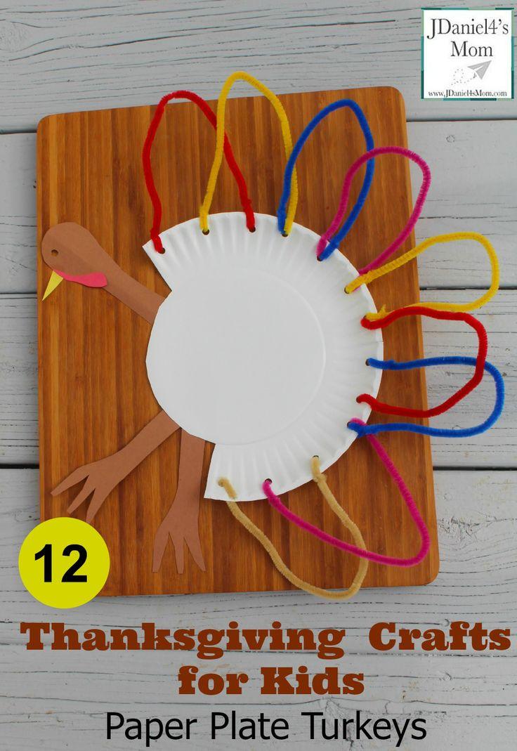 Thankgiving Crafts for Kids Plate Plate Turkeys