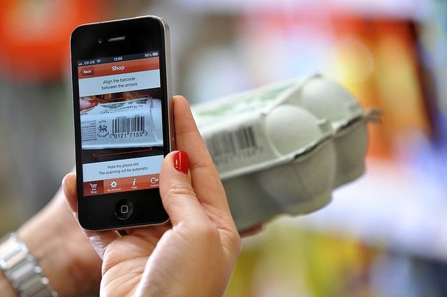 Mobile Scan & Go - the phone's camera recognises the barcode automatically by J Sainsbury, via Flickr