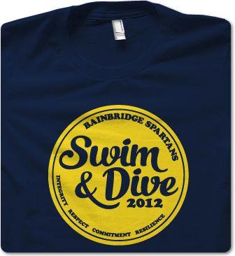Bainbridge High School Swimming t-shirt