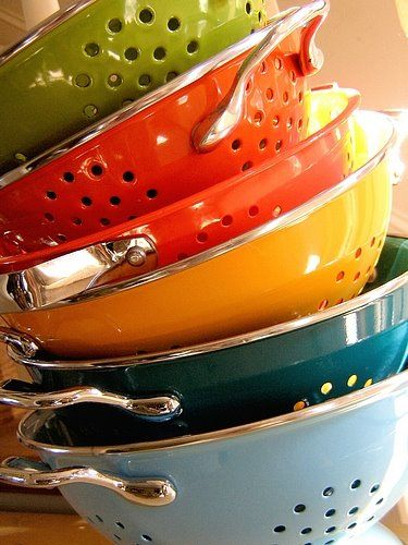 I need to find a reason to own six colanders because these are some great colors.