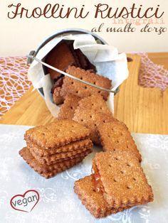 I biscotti della zia: Frollini rustici integrali al malto d'orzo (ricetta vegana)